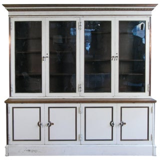 Antique 19th Century Steel and Glass Bookcase Cabinet by Carnegie For Sale