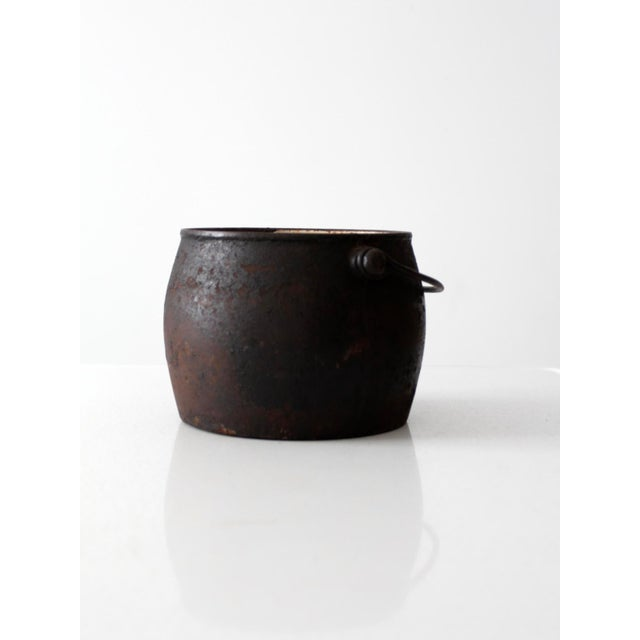 Country Antique Cast Iron Pot For Sale - Image 3 of 9
