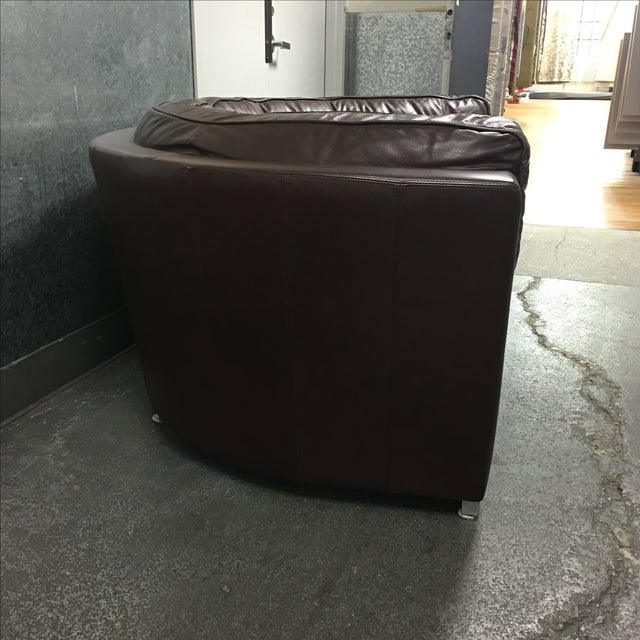 Leather Arc Sofa - Image 4 of 9
