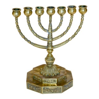Early 20th Century Antique Menorah For Sale