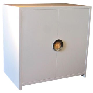 White Lacquer Cabinet For Sale