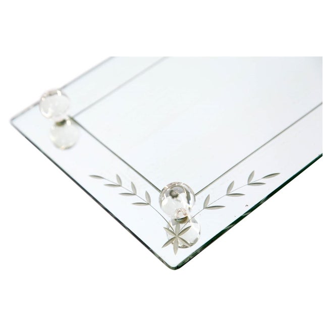 Art Deco Etched Glass Vanity Mirror Tray For Sale - Image 3 of 6