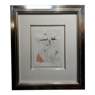 Salvador Dali -Poemes Secrets-Nude Female-Original Etching-Pencil Signed For Sale