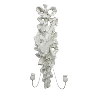 Florentine White Plaster Wall Sconce For Sale