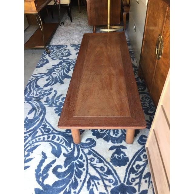 1960s Heritage Henredon Mahogany Coffee Table For Sale - Image 5 of 12