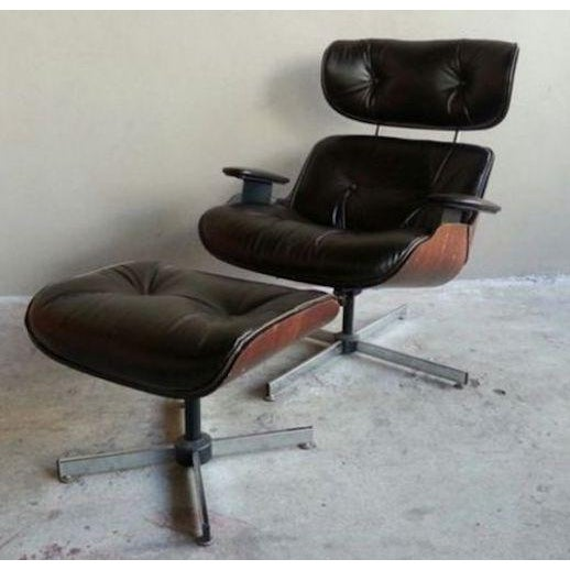 Plycraft Vintage Original 60's Plycraft Eames Chair and Ottoman For Sale - Image 4 of 7