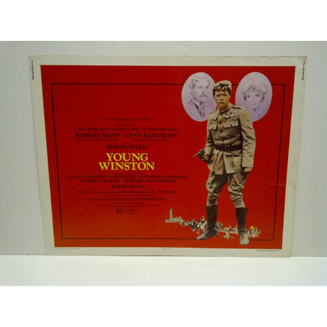 """This is a Vintage Movie Poster for """"Young Winston"""". 72/236 -- Robert Shaw And Anne Bancroft -- Copyright 1972 -- Columbia..."""