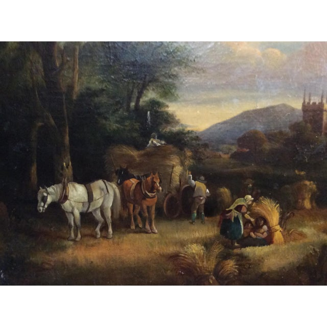 Antique 18th Century Dutch Old Masters Oil Painting For Sale - Image 9 of 10