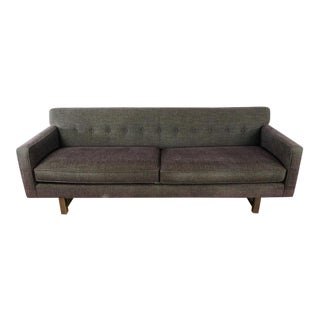 Room & Board Contemporary Brown Upholstered Two Cushion Sofa For Sale
