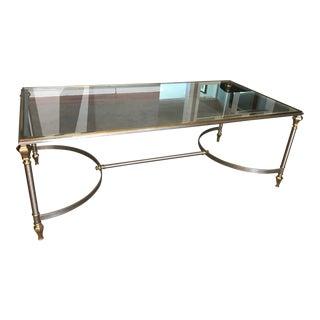 Vintage Polished Brass & Steel Coffee Table
