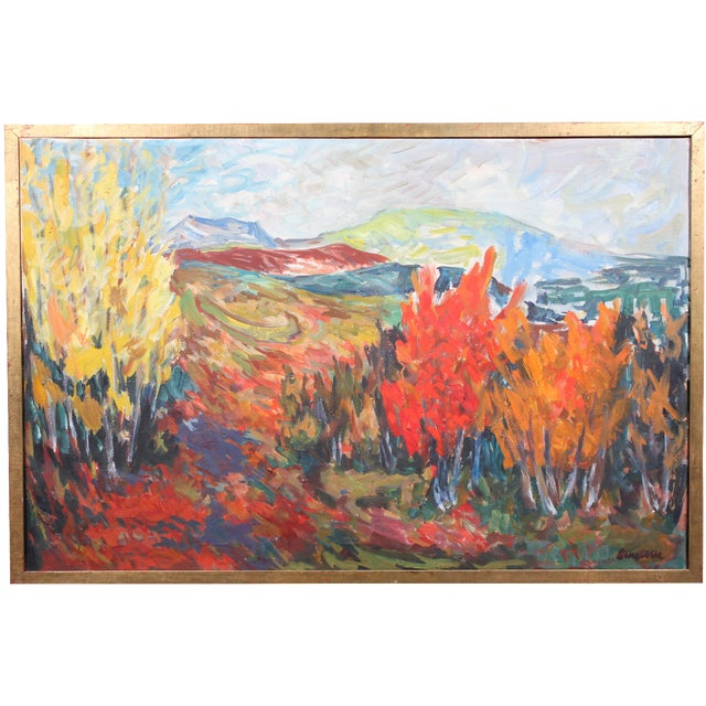 """Vintage """"Autumn Color"""" Oil Painting - Image 1 of 3"""