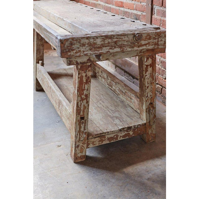 19th Century French Etabli Carpenter's Work Bench For Sale - Image 12 of 13