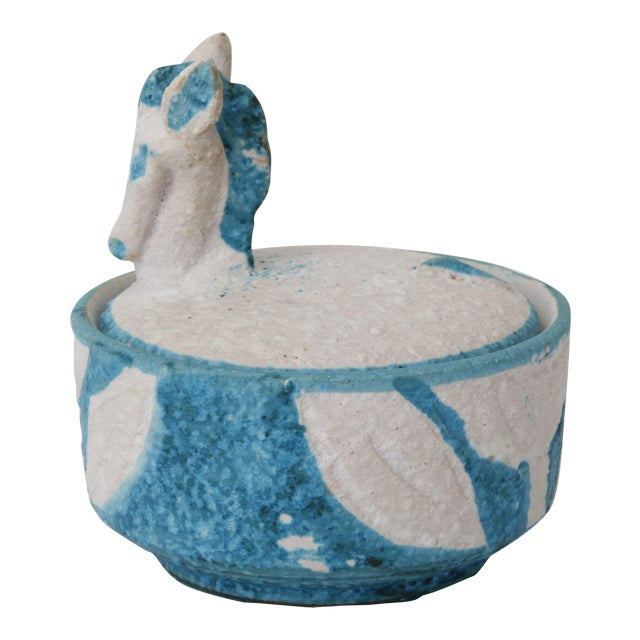 Italian Lidded Horse Bowl - Image 1 of 5