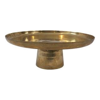 Vintage Brass Pedestal or Cake Plate