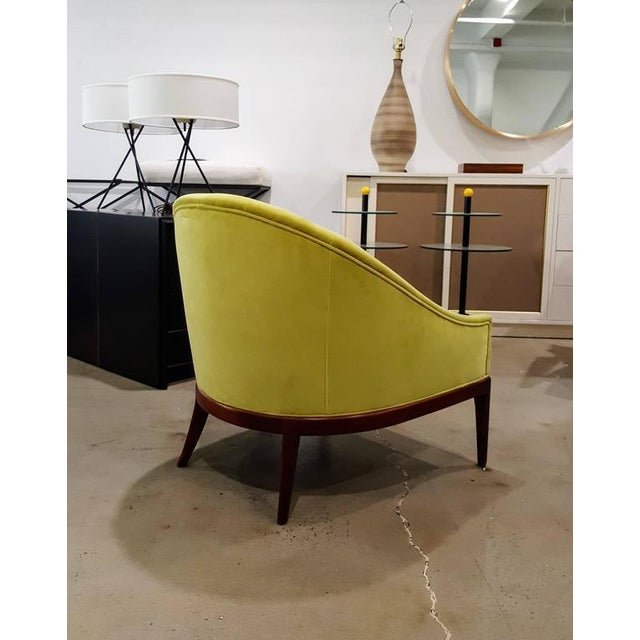 1960s Chartruese Velvet Slipper Chair - Image 5 of 7