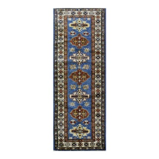 Afghan Super Kazak Wool Rug- 2'x5'10'' For Sale