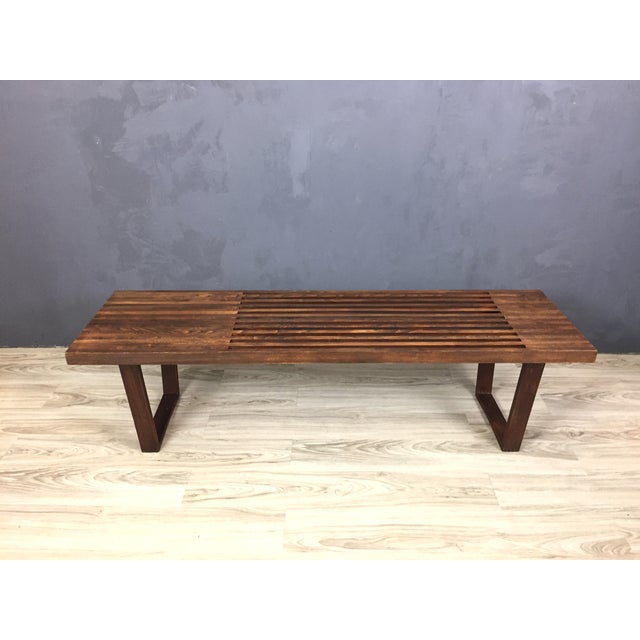 George Nelson Style Mid Century Bench/Coffee Table - Image 3 of 6