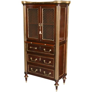 Mahogany Storage Chest/Desk Attributed to Maison Jansen For Sale