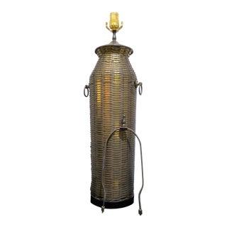 Tall Woven Brass Lamp by Chapman, 1976