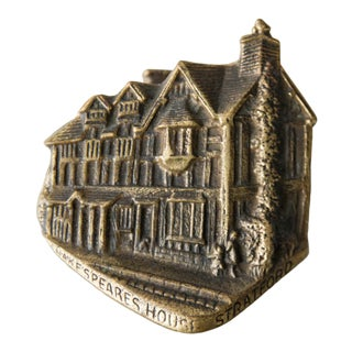 English Brass Shakespeare's House Door Knocker For Sale