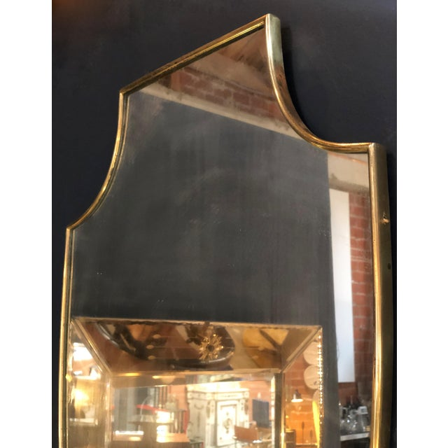 Midcentury Italian Shield Shape Mirror, 1960s For Sale - Image 4 of 5