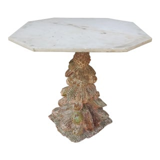 19th Century Wood Fragment Polychromed Occasional Table For Sale