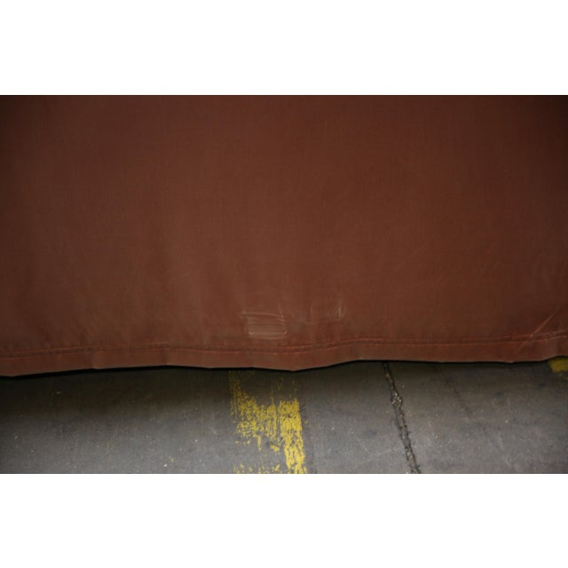 Textile Christian Liaigre Modern Sofa in Pink Velvet with 4 Pillows For Sale - Image 7 of 13