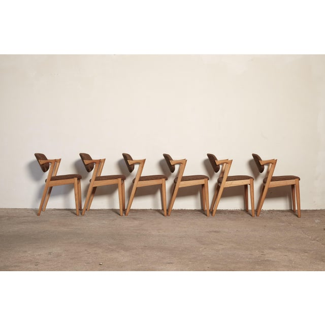 Set of Six Model 42 Oak Dining Chairs by Kai Kristiansen, Denmark, 1960s For Sale - Image 9 of 9