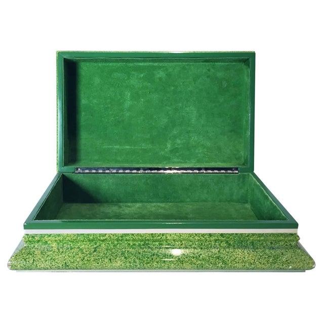 Modern Vintage Karl Springer Lidded Box For Sale - Image 3 of 4