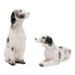 Vintage Ceramic Dog Figurines - Set of 2 For Sale
