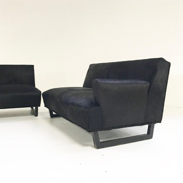 Black Forsyth One of a Kind 1950s Sectional Sofa in Natural Black Brazilian Cowhide For Sale - Image 8 of 8