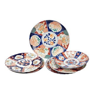 Collection of Six Imari Chargers of Various Form and Size For Sale