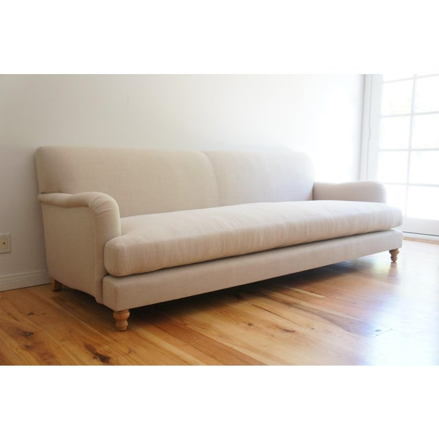 Custom Roll Arm Sofa With Modern Lines - Image 3 of 11