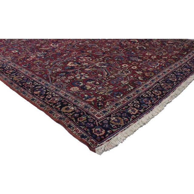 74287 Antique Persian Mashad Runner with Old World Style, Extra Long Hallway Runner. With opulent jewel-tones and decadent...