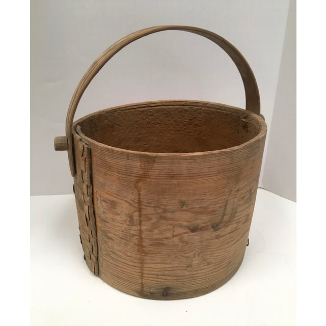 Antique Wood Butter & Cheese Basket For Sale In Dallas - Image 6 of 10