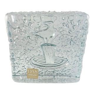 Blenko Don Shepherd IceFloe Line Sea Bird Glass Bookend For Sale