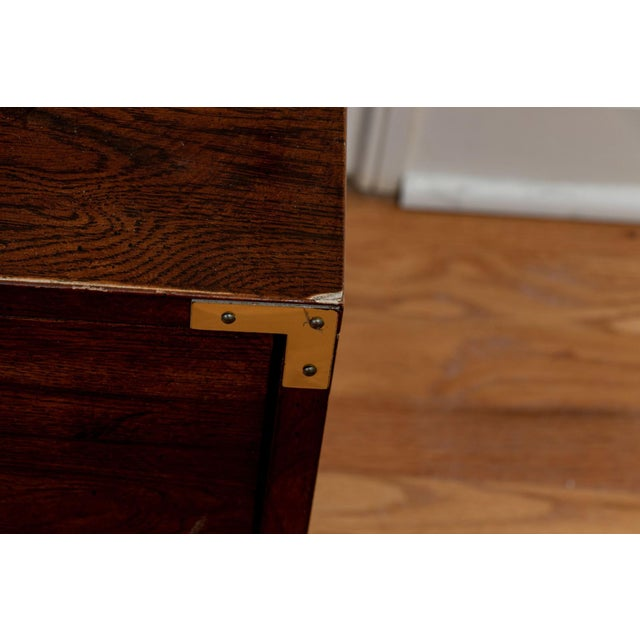 Bernhardt Mid Century Modern Campaign Style Nightstands - a Pair For Sale - Image 10 of 11