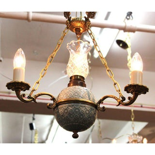 Victorian Minton Porcelain Crystal and Brass Chandelier Preview