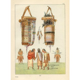 Sioux Indian Cradles, 1926 Lithograph For Sale