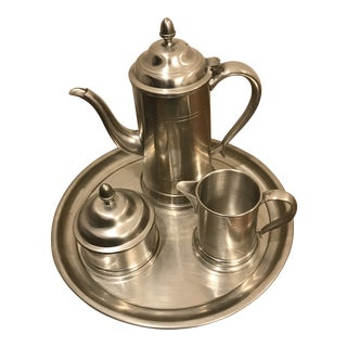 Woodbury Pewter Coffee Service - Set of 4 For Sale