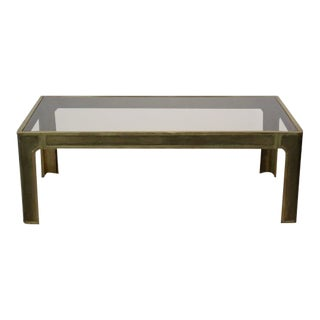 Peter Ghyczy Style Brass and Glass Coffee table