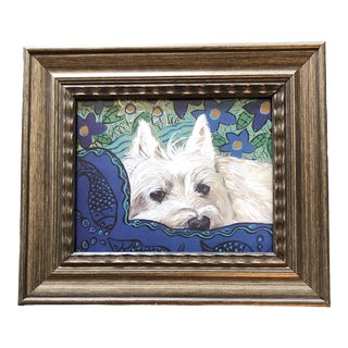 Westin Dog Print by Contemporary Artist Judy Henn For Sale