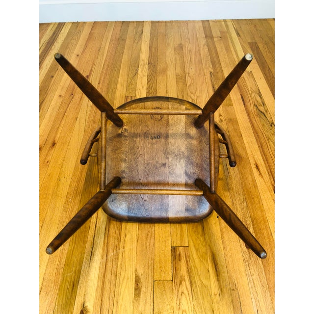 Brown Vintage Mid Century Russel Wright for Conant Ball Windsor Style Maple Chairs- A Pair For Sale - Image 8 of 10