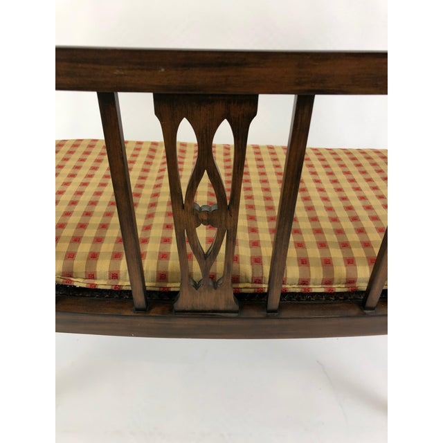 Italian Curved Fruitwood Loveseat Settee For Sale In Philadelphia - Image 6 of 11