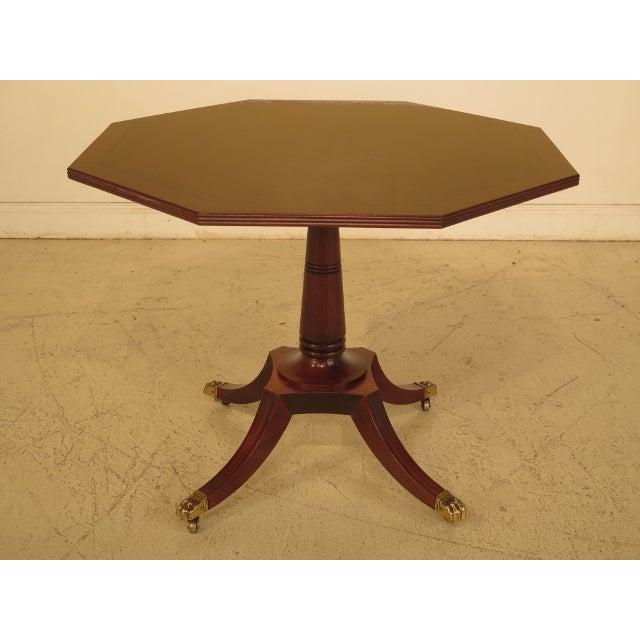 Baker Octagonal Mahogany Center or Breakfast Table - Image 9 of 9