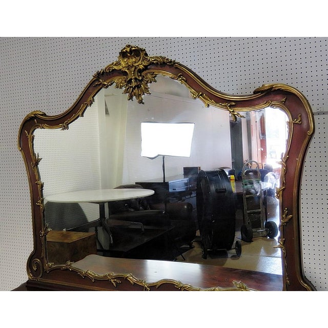 Metal Regency Style Commode With Mirror For Sale - Image 7 of 10