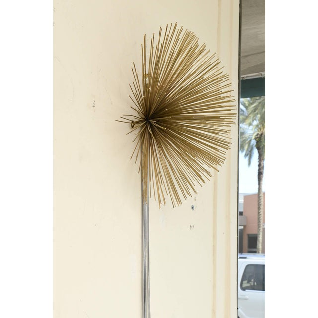 Curtis Jere Curtis Jere Mixed Metals Pom Pom/Starburst Hanging Sculpture For Sale - Image 4 of 9