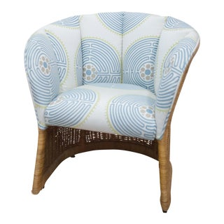 Upholstered Wicker Side Chair