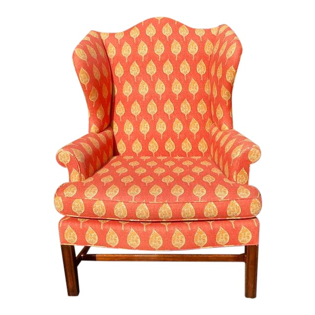 1980s Vintage Kittinger Colonial Williamsburg Wingback Chair For Sale