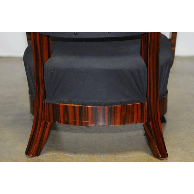 French Art Deco Macassar Club Chairs - A Pair For Sale - Image 9 of 10